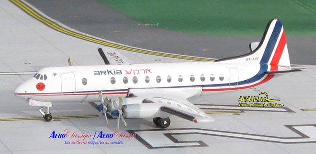 Arkia Airlines Viscount 831 Reg. 4X-AVE