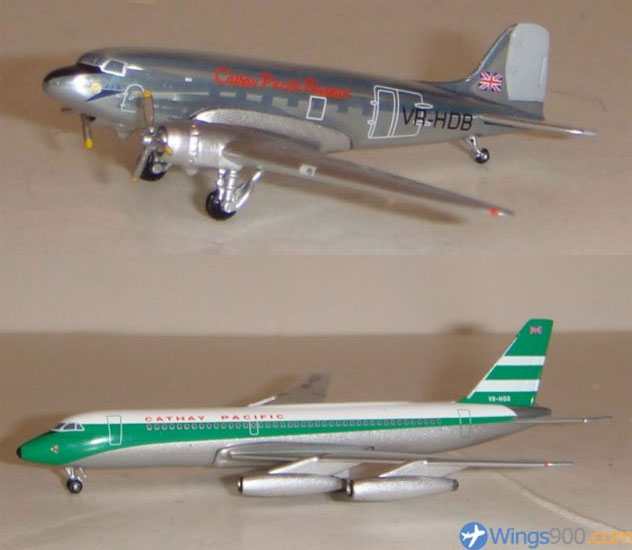 Cathay Pacific Airways Douglas DC-3 and Convair CV-880 Twin Pack