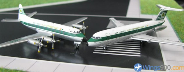 Aer Lingus Airlines Set of Two BAC-111 and Viscount 803 Reg. EI-ANF and EI-AOE