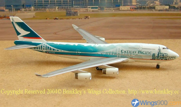 Cathay Pacific Airways Boeing B747-467 Reg. N/A