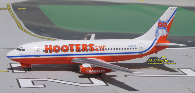 Hooters Air Airlines Boeing B737-2K5/Adv. Reg. N250TR