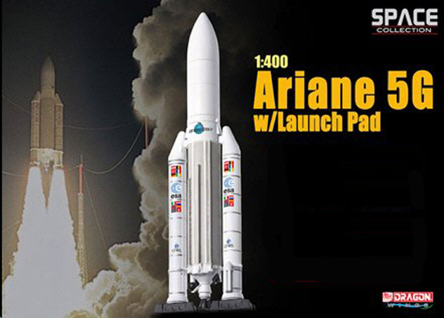 Arianespace Ariane 5G Rocket with Launch Pad
