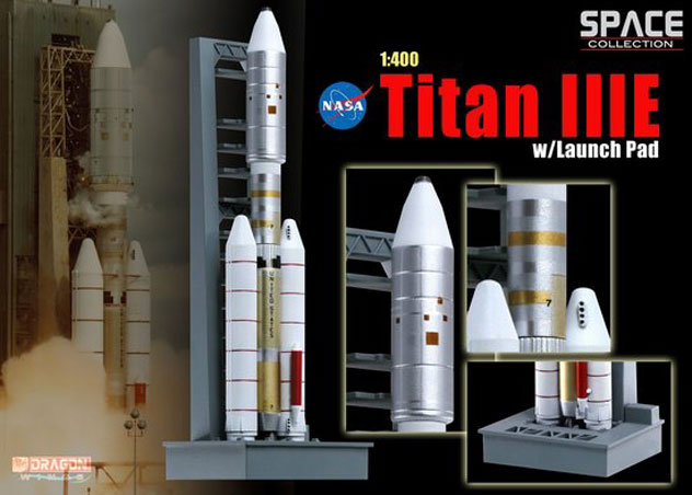NASA Titan IIIE Rocket with Launch Pad Reg. OV-099