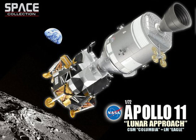 NASA CSM Command Service Module Apollo 11 with/ (LM) Lunar Module