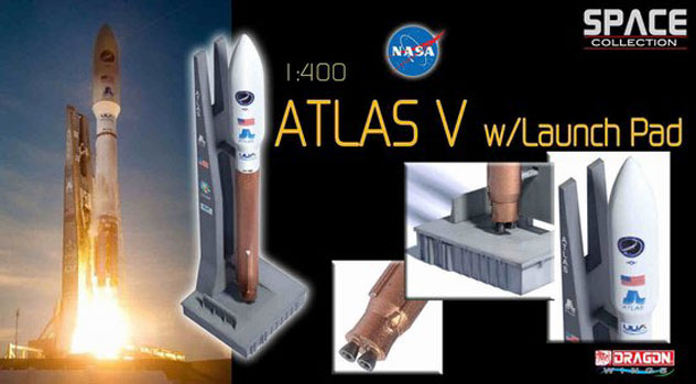 SPACECRAFT Atlas V Rocket with Launch Pad
