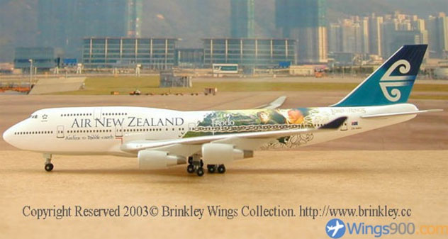 Air New Zealand Airlines Boeing B747-419 Reg. ZK-NBV
