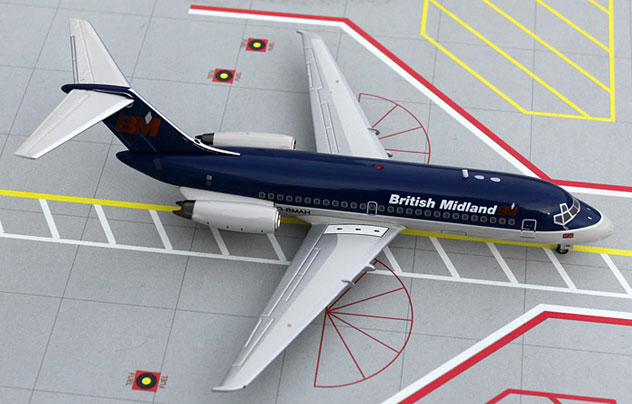 BMI - British midland Airways Douglas DC-9-14 Reg. G-BMAH