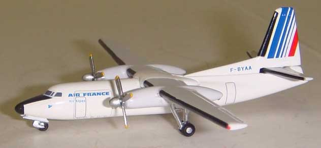 Air France Airlines Fokker F-27-400 Reg. F-BYAA