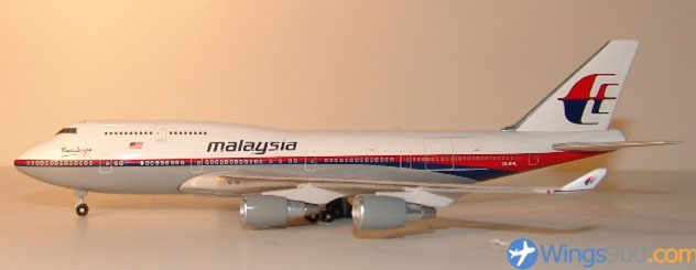 Malaysia Airlines Boeing B747-4H6M Reg. 9M-MHL