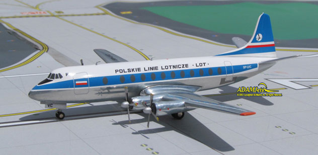 LOT - Polish Airlines Viscount 804 Reg. SP-LVC