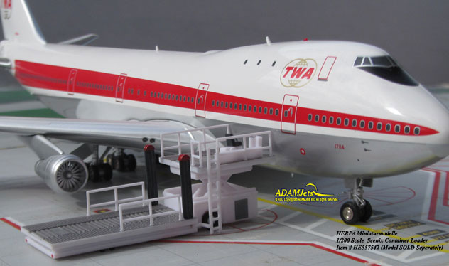 Herpa Airport Accesories^Cargo Container Loader 1/200 Scale