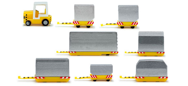 Herpa Airport Accessories^Cargo Container Trailers 1/200 Scale