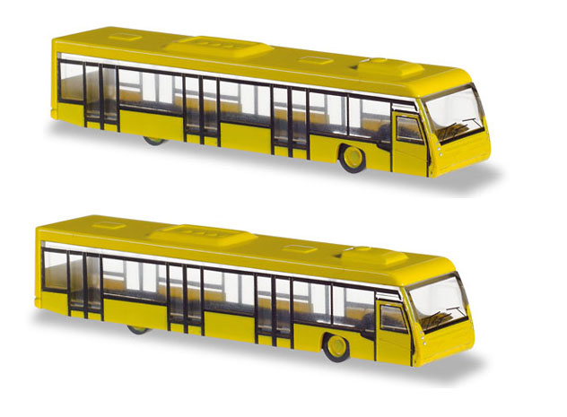 Herpa Accessories^Airport Bus Set in 1/200 Scale