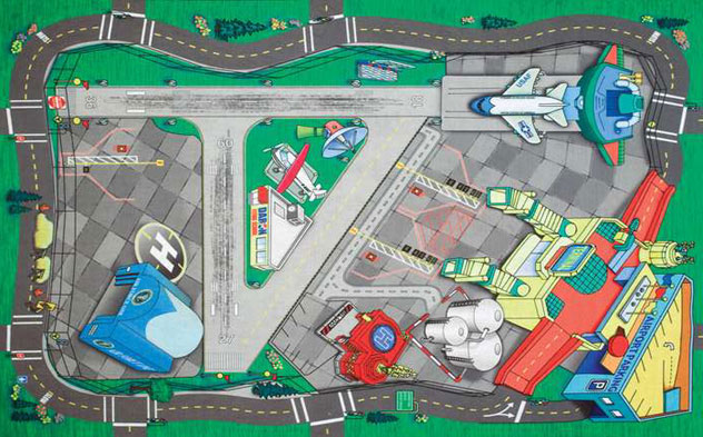 Realtoy Airport Sets^Large Airport Playmat