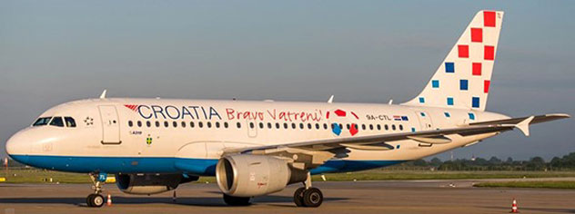 Croatia Airlines Airbus A319-112 Reg. 9A-CTL