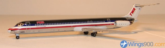 TWA -Trans World Airlines McDonnell Douglas MD-83 Reg. N9615W