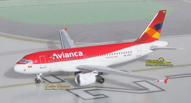 Avianca Colombia Airlines Airbus A319-115 Reg. HK-4552