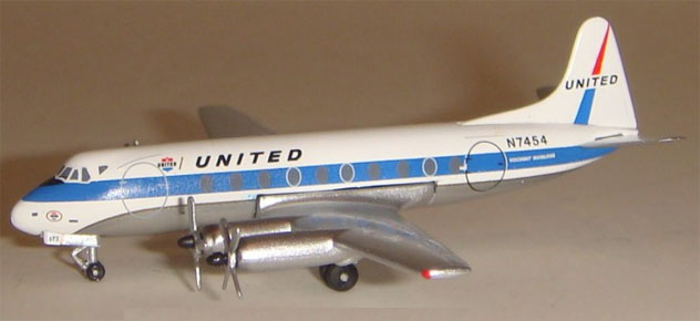 United Airlines Viscount 745D Reg. N7454