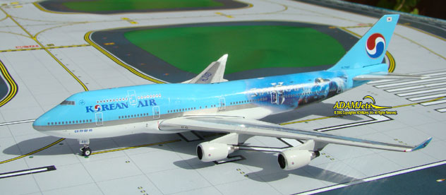 Korean Air Airlines Boeing B747-4B5 Reg. HL7491