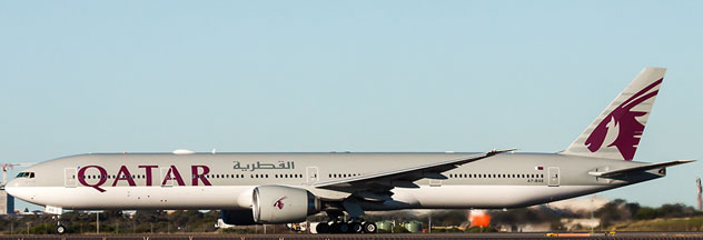 Qatar Airways Boeing B777-300/ER Reg. A7-BAB