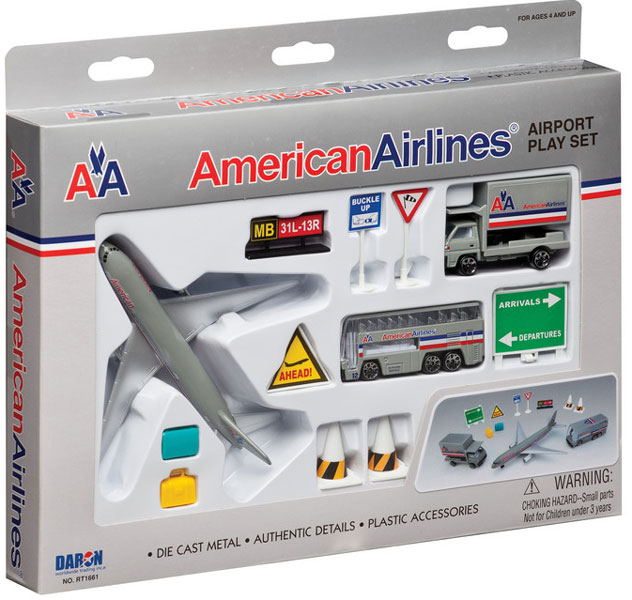 Realtoy Airport Sets American Airlines