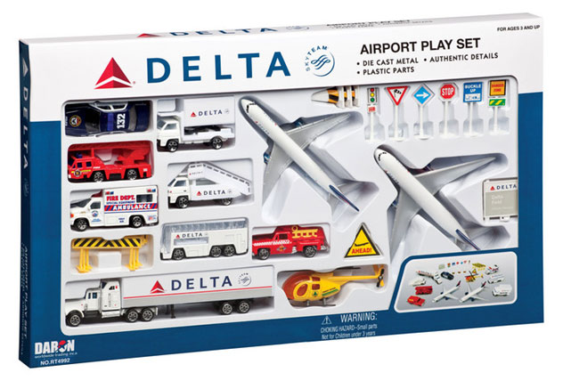 Realtoy Large Airport Sets Delta Airlines