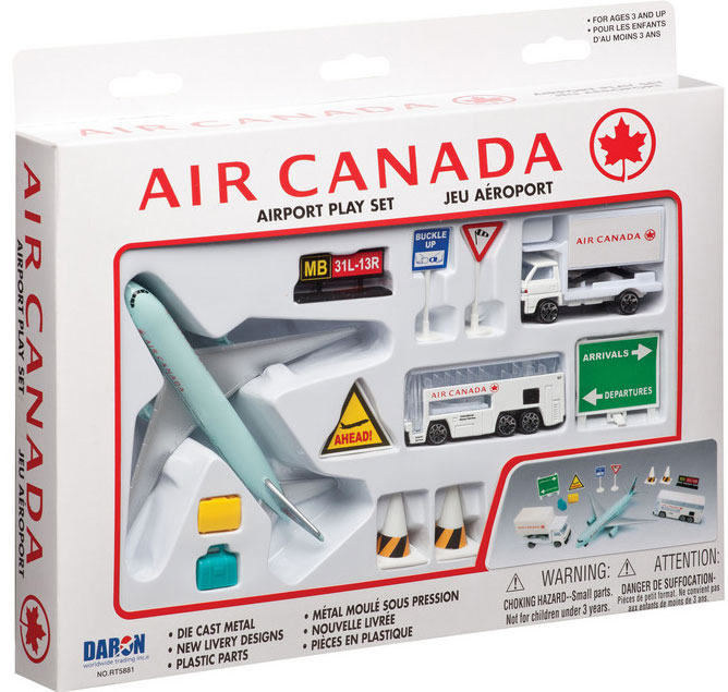 Realtoy Airport Sets Air Canada Airlines