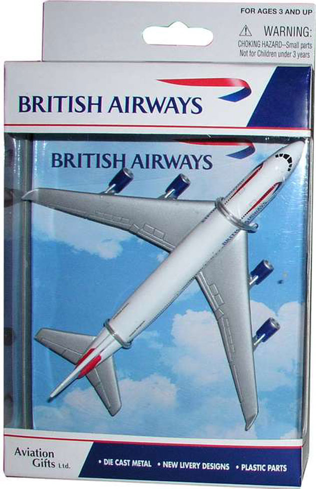 Realtoy Single Plane Set British Airways Boeing Model
