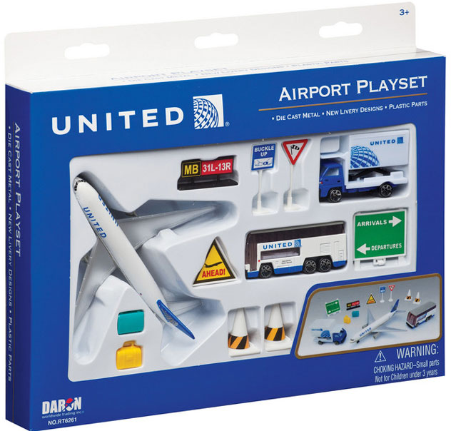 Realtoy Airport Sets United Airlines