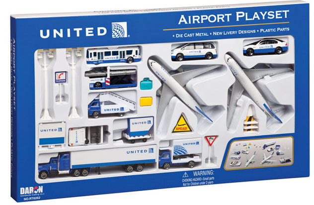 Realtoy Large Airport Sets United Airlines