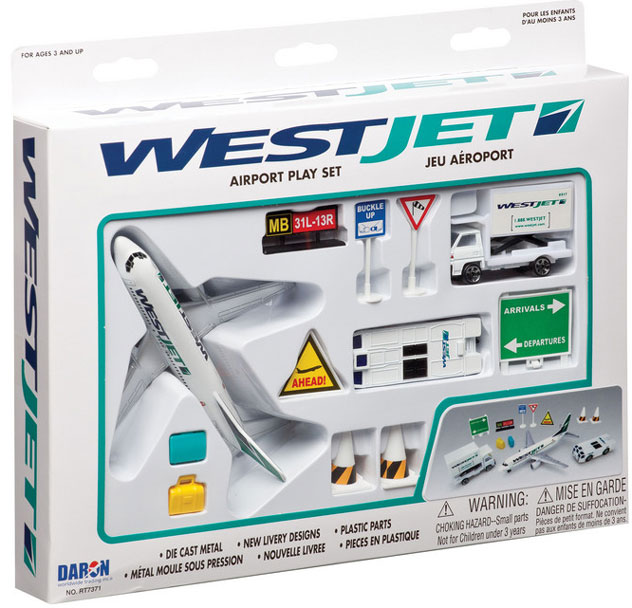 Realtoy Airport Sets WestJet Airlines