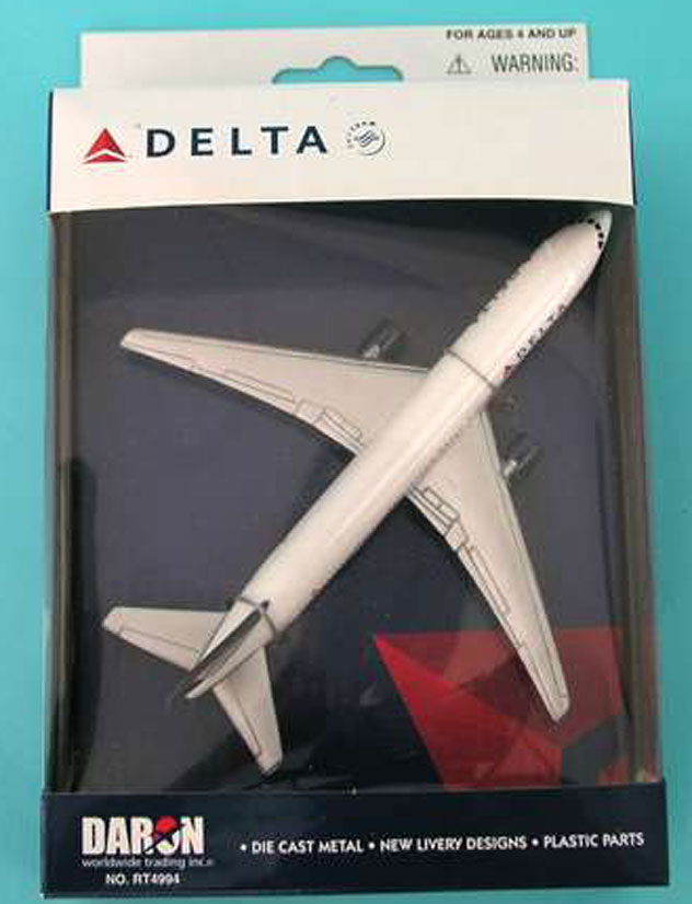 Realtoy Single Plane Set Delta Airlines