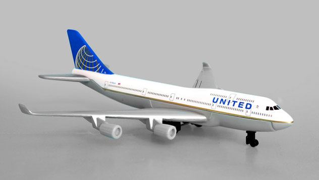 Realtoy Single Plane Set United Airlines