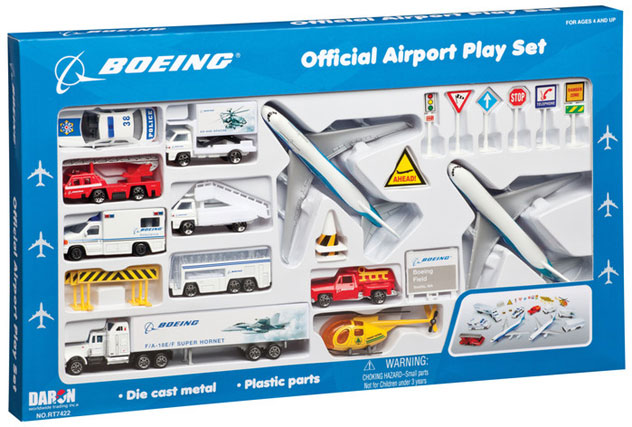 Realtoy Large Airport Sets Boeing Company