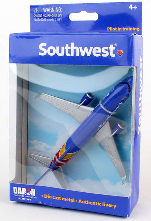 Realtoy Single Plane Set Southwest Airlines